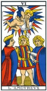 Cartomancie - Signification cartes Tarot de Marseille - carte l'Amoureux