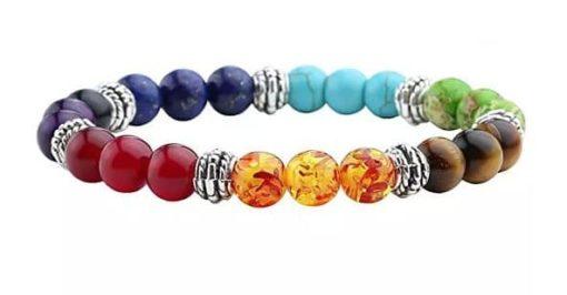 Magnifique bracelet Reiki en pierres naturelles qui apporte l'équilibre des 7 chakras